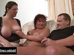 Big Boobs, Blowjob, German, Hardcore, Threesome