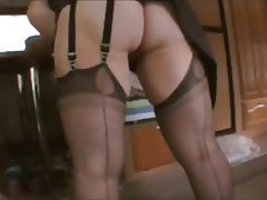 High Heels, Masturbation, Stockings, Wife