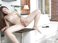 Teen, Small Tits, Masturbation, Russian