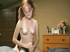 Cumshot, Handjob, Old and Young, Skinny, Small Tits