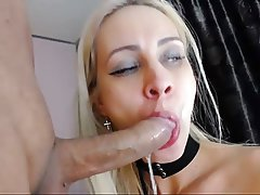 Webcam, Blowjob, Cum in mouth, Swallow
