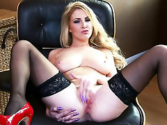 Babe, Big Tits, Panties, Squirt, Stockings