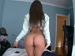 Ass Licking, Brunette, Dildo, Reality