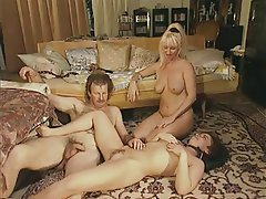 Double Penetration, Group Sex, MILF, Strapon, Swinger