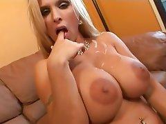 Big Boobs, Blonde, Blowjob, Close Up, Cumshot