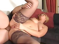 Anal, Blonde, Stockings