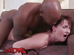 Blowjob, Cumshot, Interracial, Lingerie